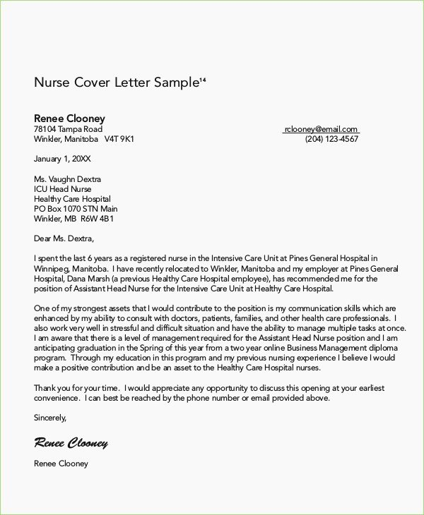 Rn Cover Letter format – thepizzashop