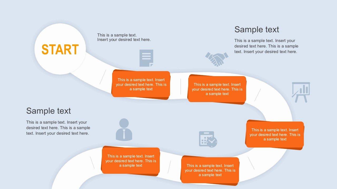 Roadmap Journey Powerpoint Template