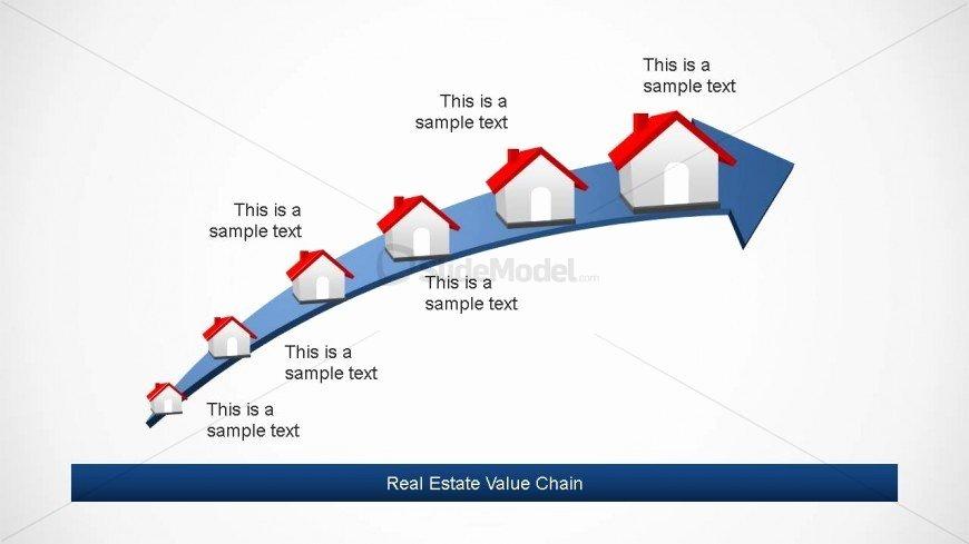Roadmap Timeline Design for Real Estate Slidemodel