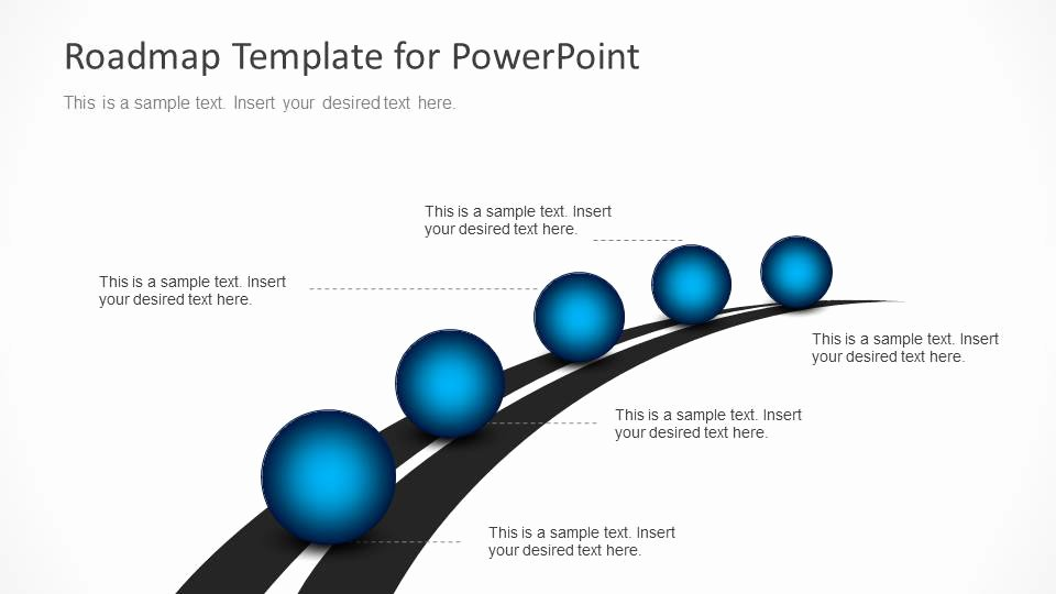 Roadmap Timeline with Spheres for Powerpoint Slidemodel
