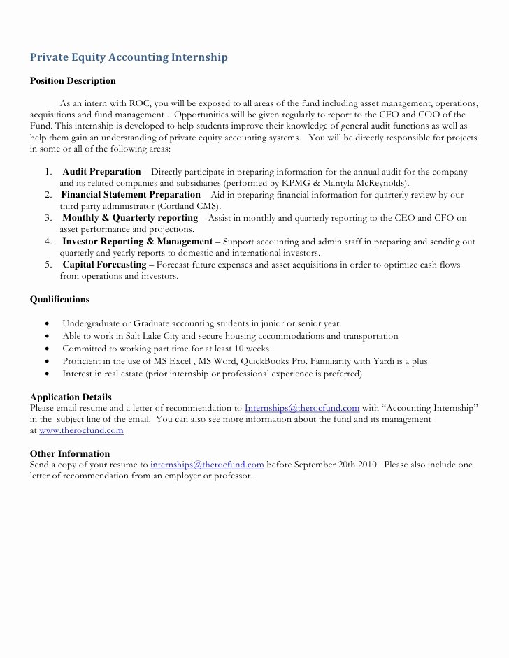 Roc Accounting Internship