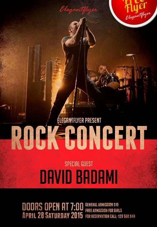 Rock Concert Free Psd Flyer Template Cover