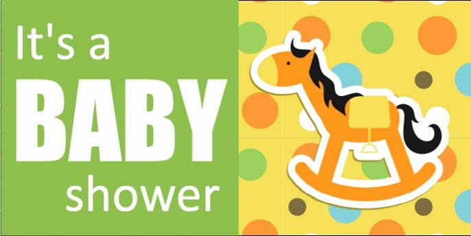 Rocking Horse Baby Shower Banner Template From Banners