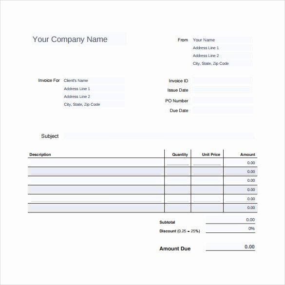 Roof Invoice form & Invoicing Template for Roofing Service