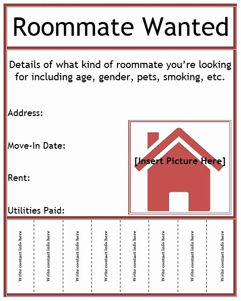 Roommate Wanted Flyer Template Business