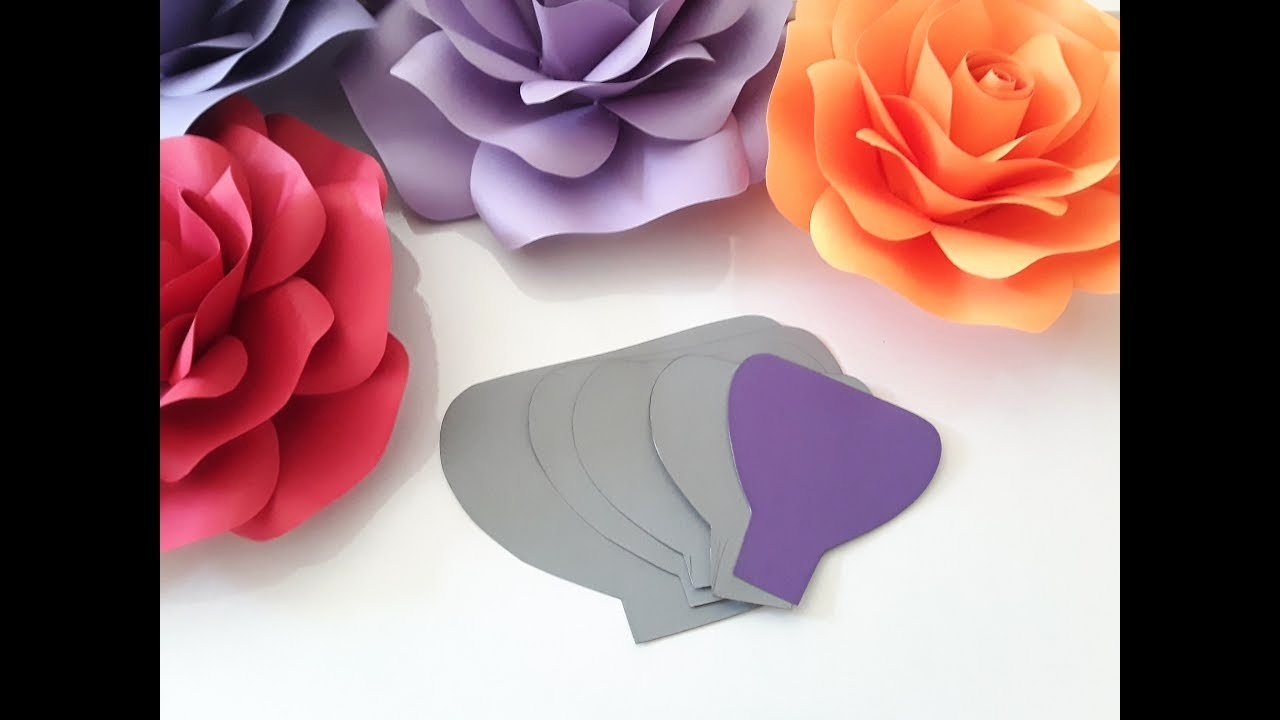 Rose Paper Flower Template Templates Data