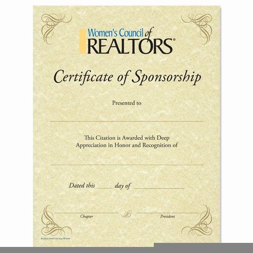 Rotary Blank Certificate Of Sponsorship Rotary Club