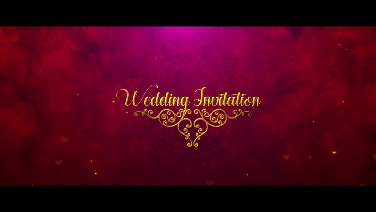 Royal Wedding Invitation In after Effects