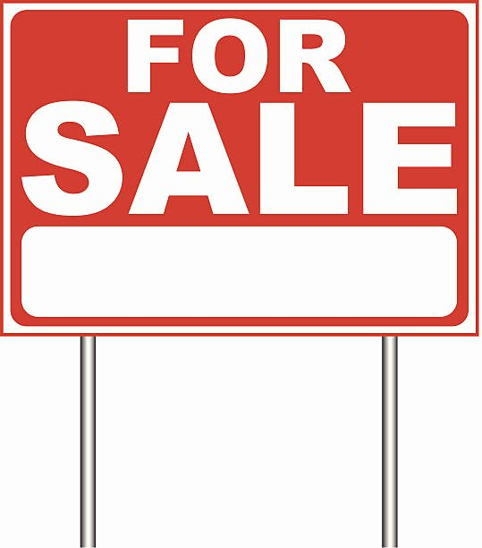 Royalty Free Home for Sale Clip Art Vector