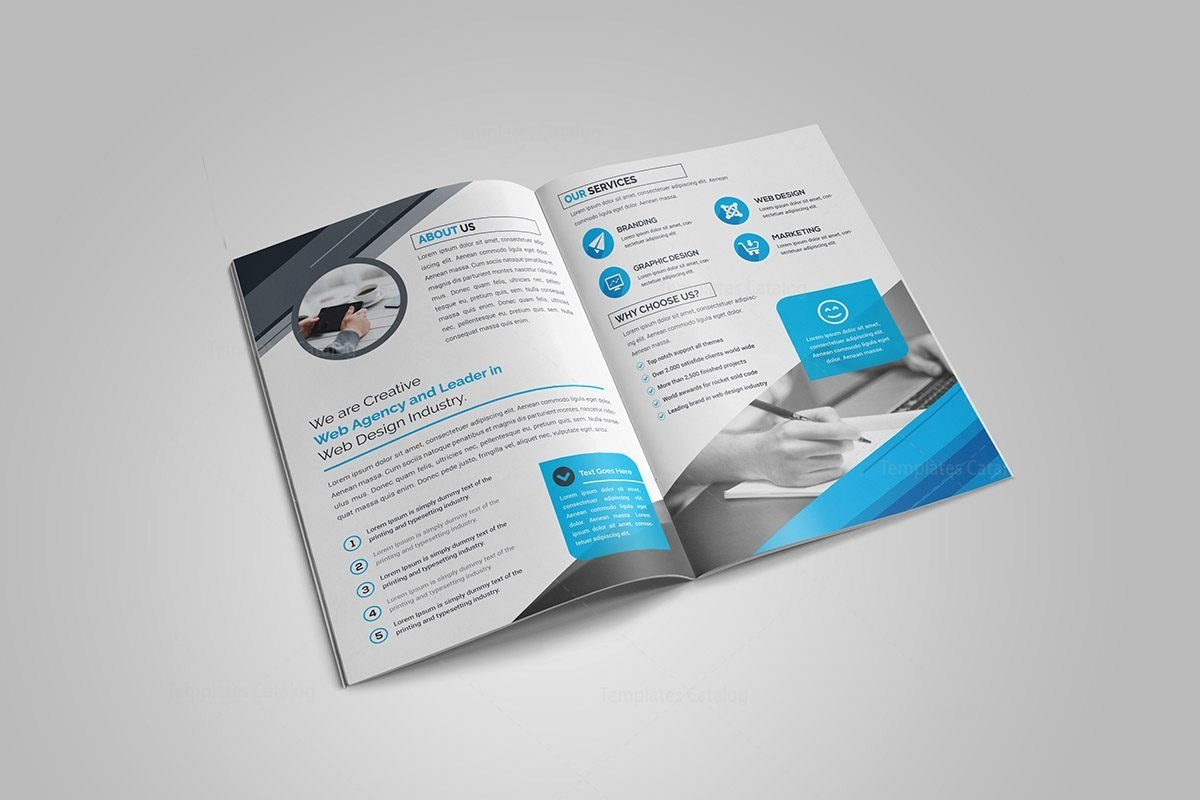Ruby Bi Fold Brochure Template Template Catalog