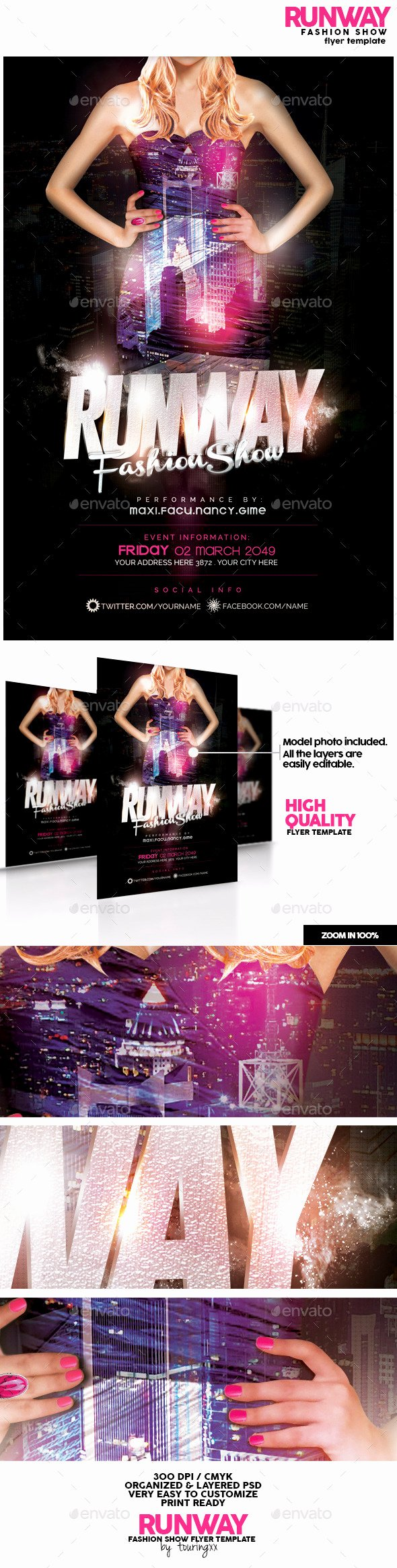Runway Fashion Show Flyer Template by touringxx
