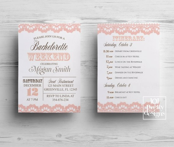 Rustic Bachelorette Party Invitation Template Printable