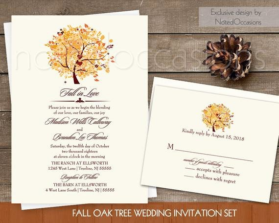Rustic Fall Wedding Invitation Set Printable by Notedoccasions