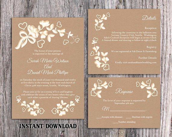 Rustic Printable Wedding Invitations Latest Eucalyptus
