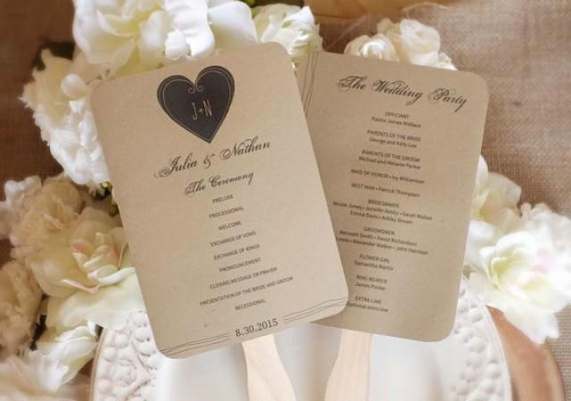 Rustic Wedding Fan Program Template Download Instantly