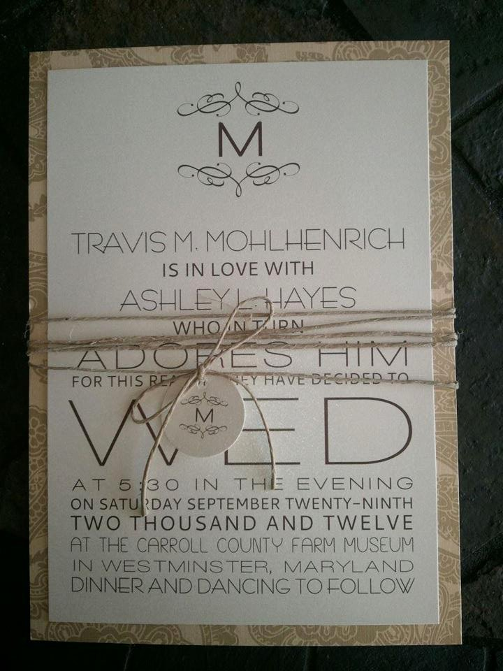 Rustic Wedding Invitations Template