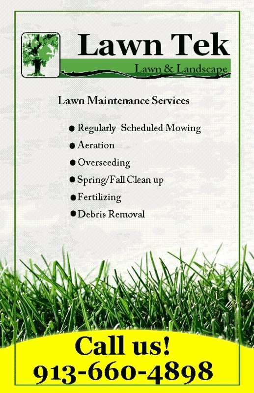 S Residential Lawn Care Flyer Promotions L Free