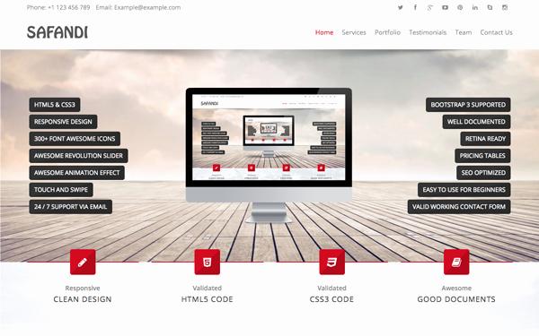 Safandi HTML5 Css3 E Page Template