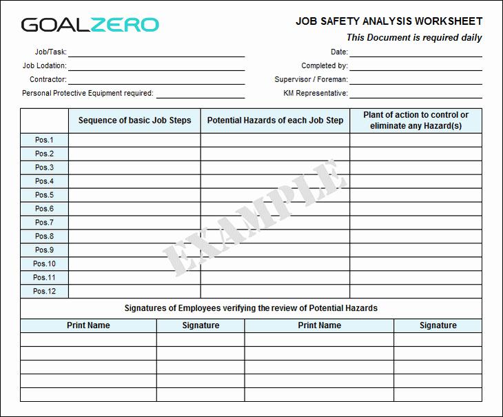 Safety Job Safety Analysis Jsa