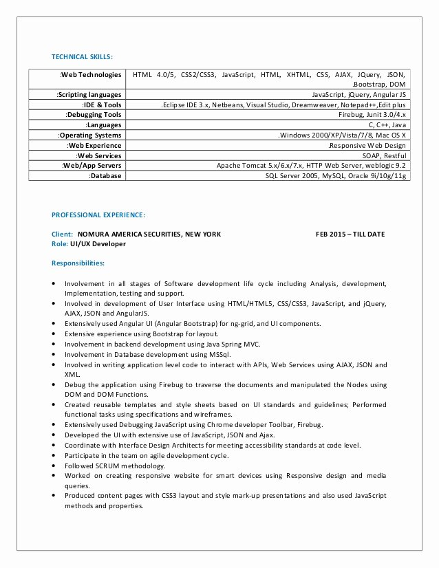 Sai Sharan Ui Resume