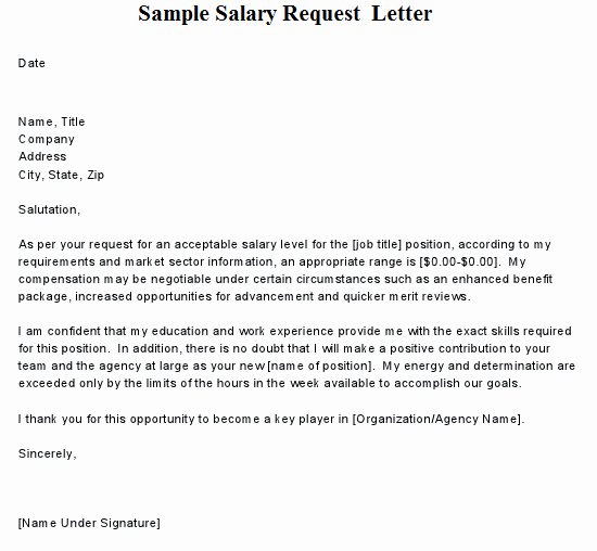 Salary Increment Request Letter format Sample