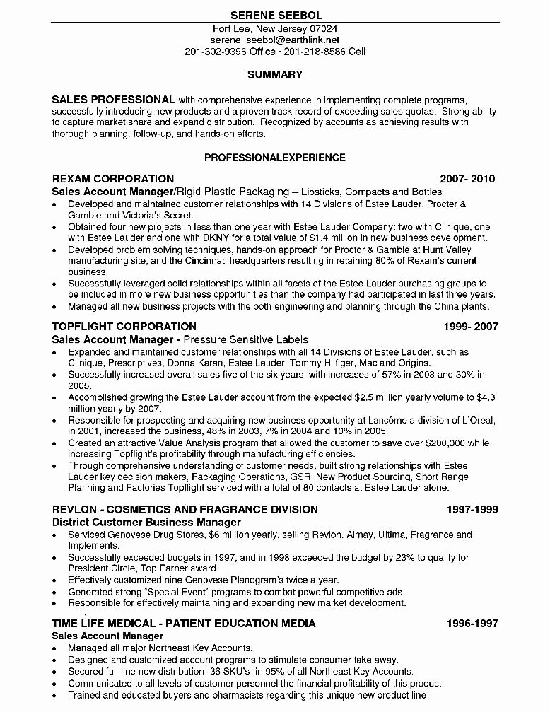 Sales Account Executive Resume Free Samples Examples