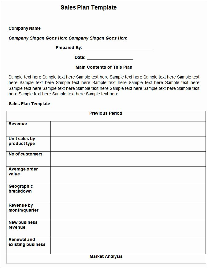 Sales Action Plan Template – 11 Free Word Excel Pdf