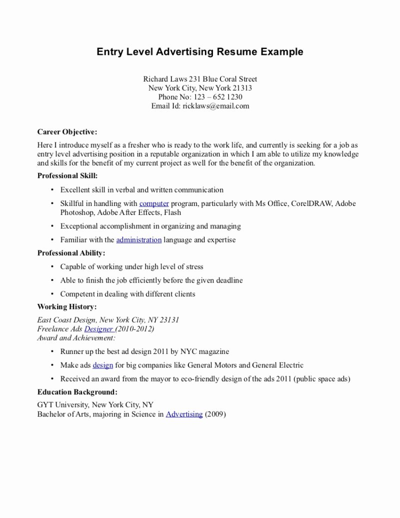 Sales Advertising Manager Line Resume Marketing Account