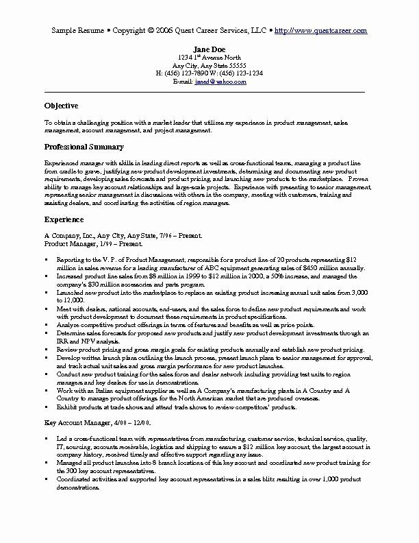 Sales and Marketing Resumes Samples Best Resume Gallery