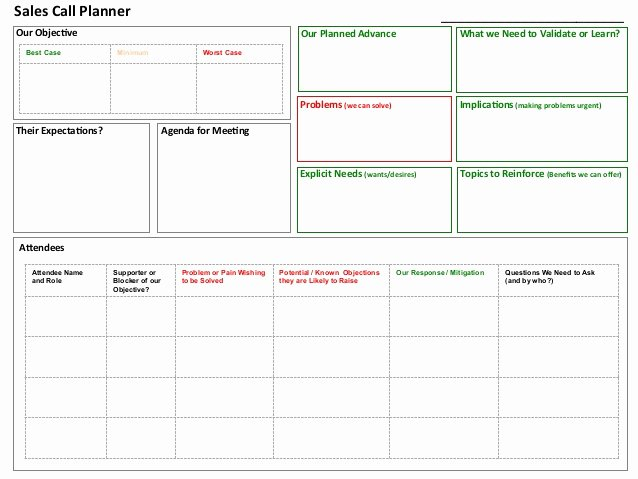 Sales Call Planner tool