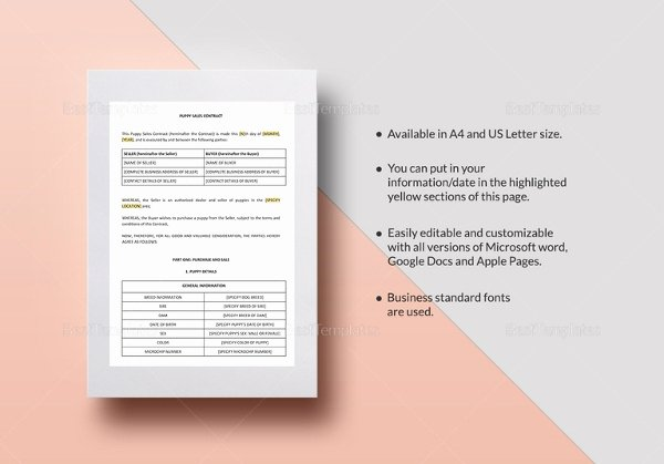 Sales Contract Template 16 Word Pdf Documents Download