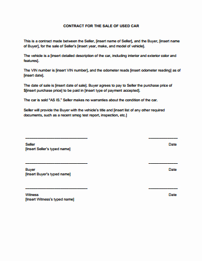 Sales Contract Template Free Download Create Edit Fill
