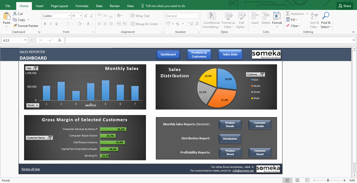 Sales Dashboard Template Professional Reporting for
