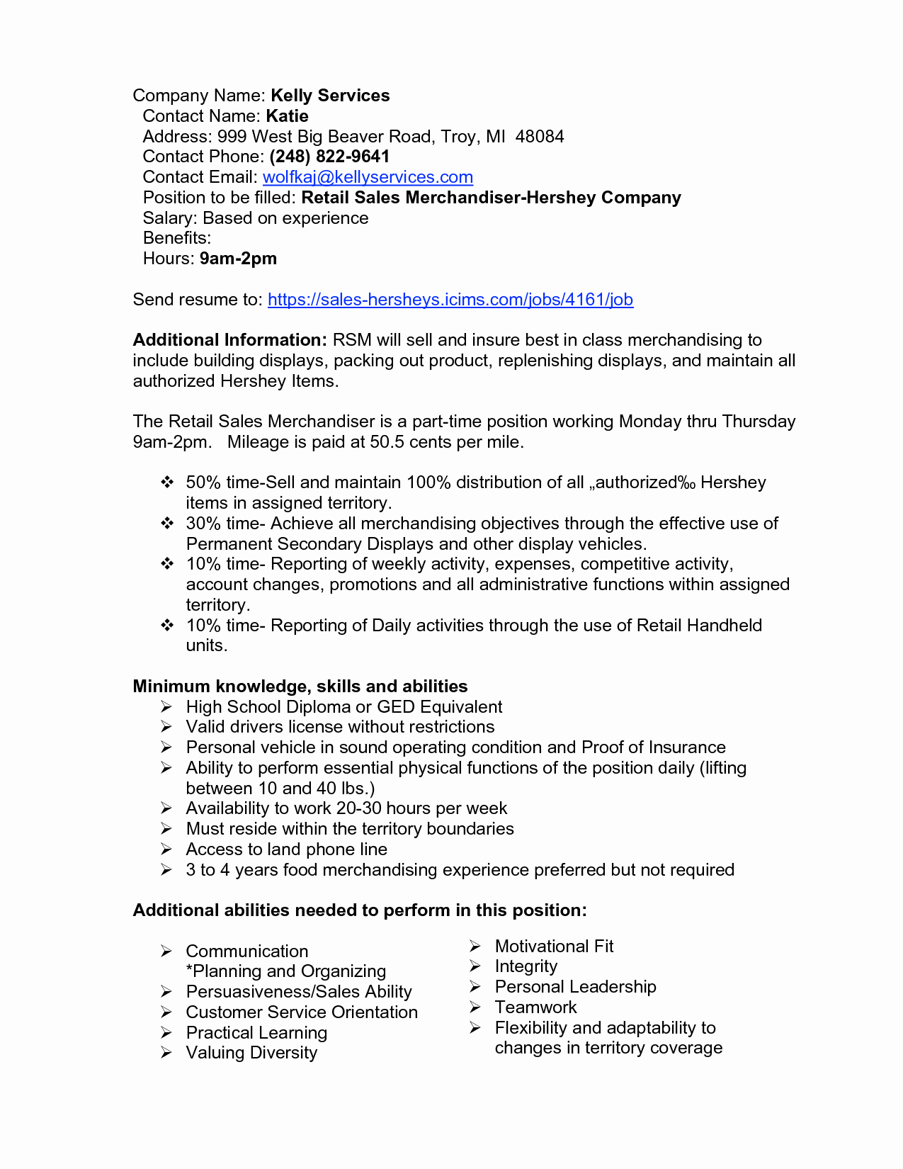Sales Jobs Resume
