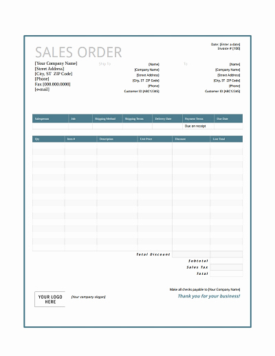 Sales order Template Free Download Edit Fill Create