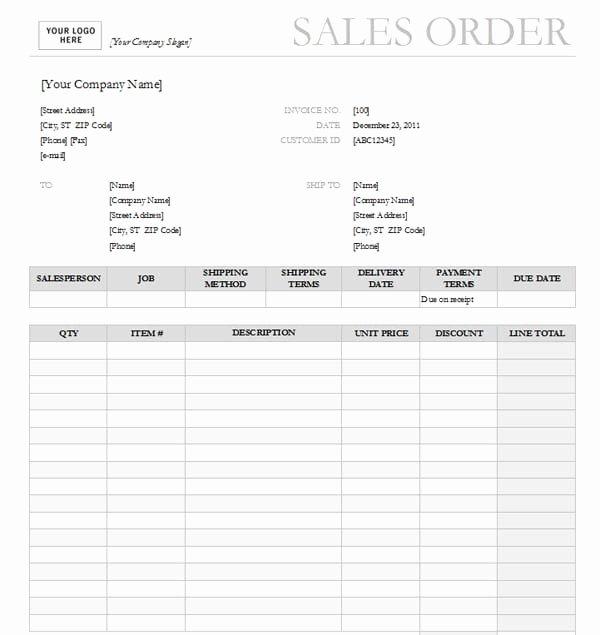 Sales order Templates