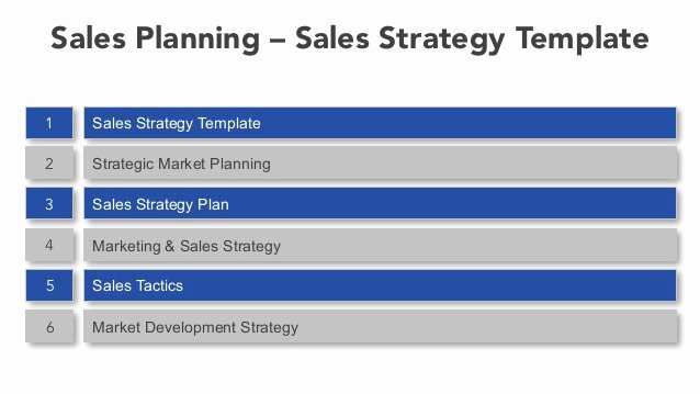 Sales Planning Sales Strategy Template