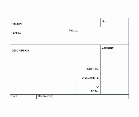 Sales Receipt Template 22 Free Word Excel Pdf format