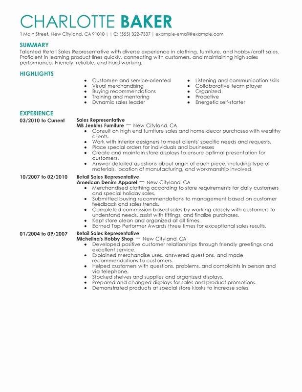Sales Representative Job Description Resume Elegant Unique