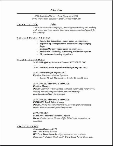 Sales Resume Occupational Examples Samples Free Edit with