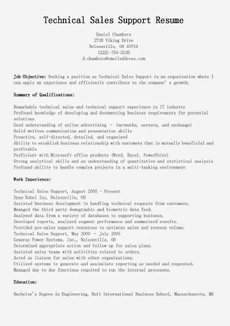 Sales Resume Skills