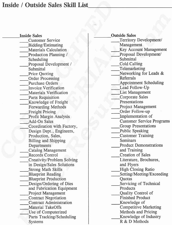 Sales Resume Skills at Provenresumes