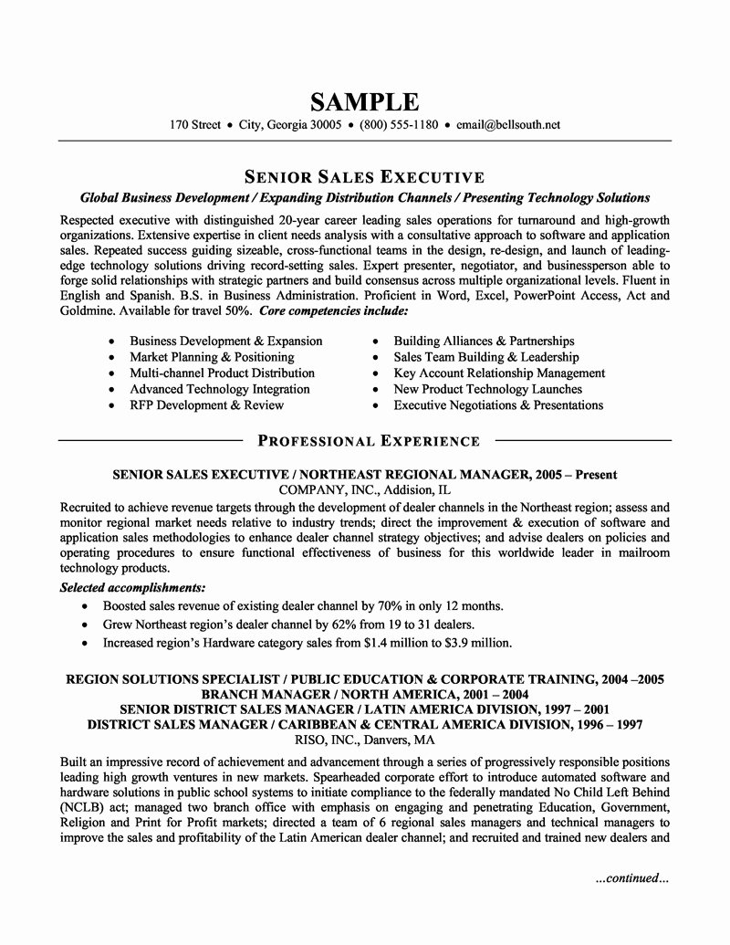 Sales Resume Skills Resume Ideas