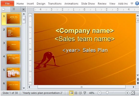 Sales Strategy Template Powerpoint Rebocfo