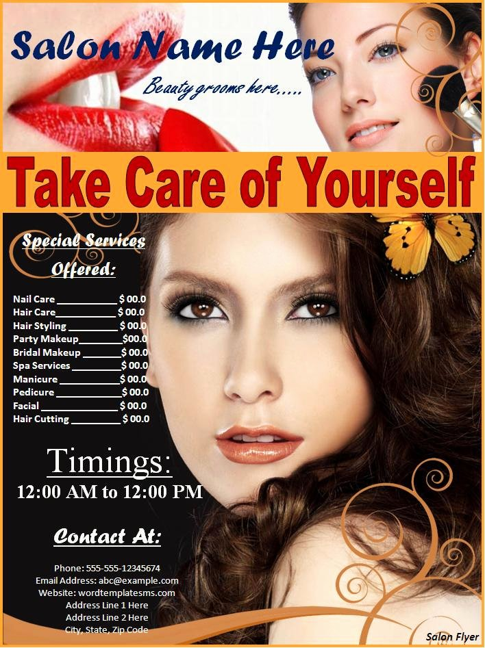 Salon Flyer Best Word Templates