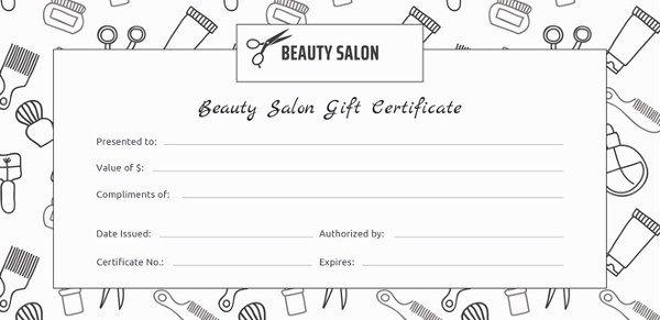 Salon Gift Certificate Template 9 Free Pdf Psd Ai