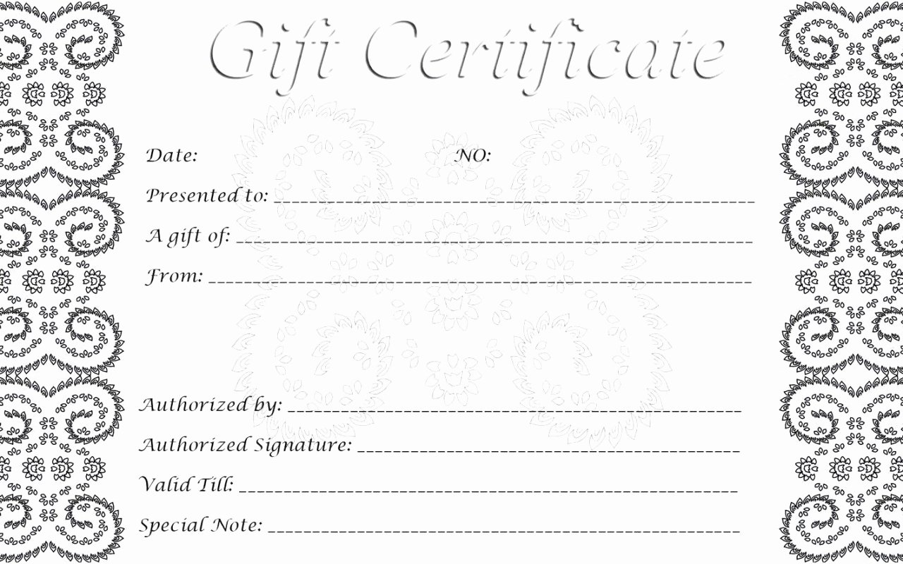 Salon Gift Certificate Template Free Printable Gift Ftempo