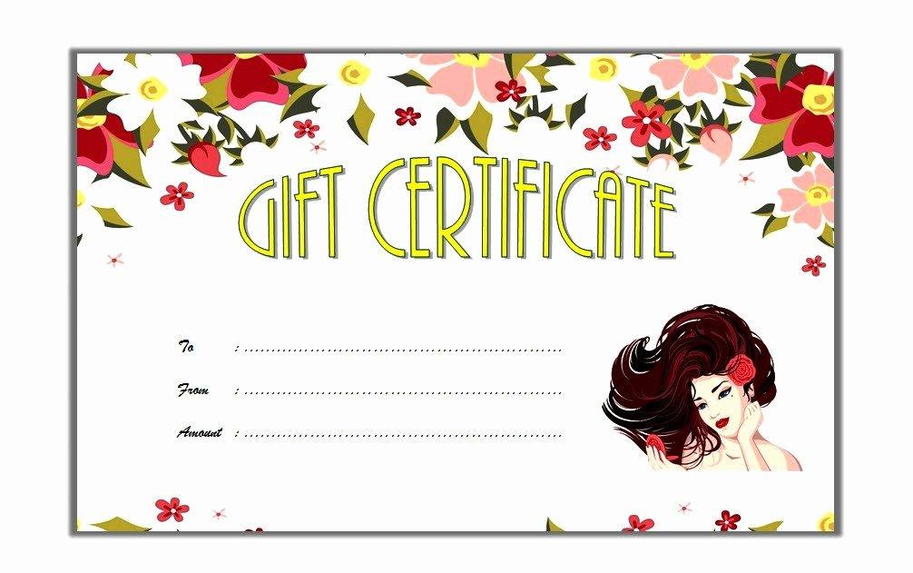 Salon Gift Certificate Templates