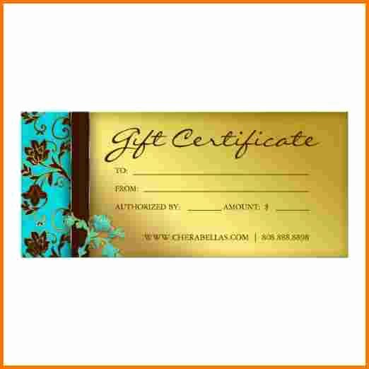 Salon T Certificate Template