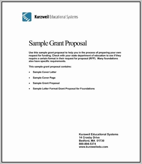 Sample A Cover Letter for A Grant Proposal Cover